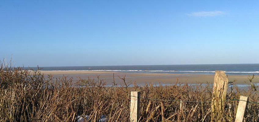 Ausblick über den Strand im Norden von Spiekeroog