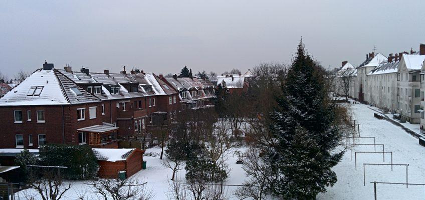 Endlich Schnee in Whv, Winter 01/2014