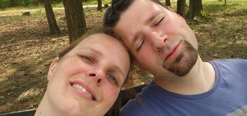 Spaziergang im Elmpter Schwalmbruch, Selfi von Anna und Christoph
