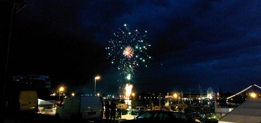 Wochenende an der Jade 2014 - Feuerwerk