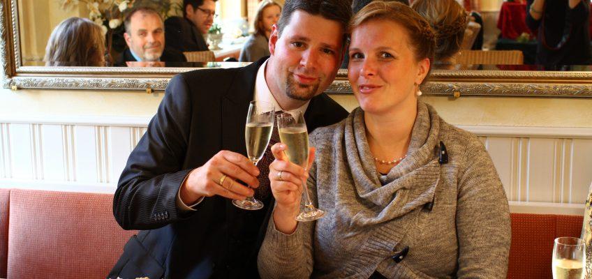 Hoch lebe das Brautpaar!